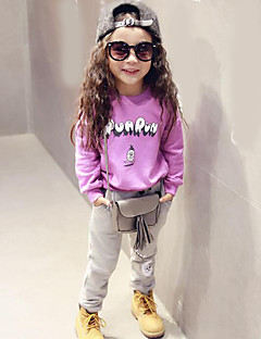 Girl's Casual/Daily Print Hoodie & Sweatshirt / Clothing SetCotton / Polyester Spring / Fall Purple