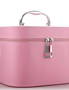 Szépségápolási táska Egyszínű Négyszög Műanyag Fekete Elhalványulnak Barna Orange Fehér Szabályos 22*17*16 Unisex