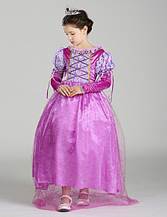 女の子の パッチワーク ポリエステル ドレス オールシーズン 半袖