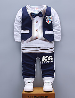 Boy Casual/Daily Sports Print Sets,Cotton Spring Fall Long Sleeve Clothing Set