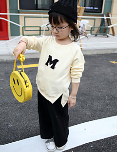 Girl's Casual/Daily Solid Clothing SetCotton Spring / Fall Beige