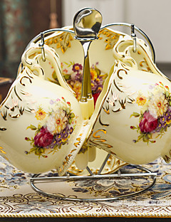 1pc koffie kop en schotel set is voorzien van vintage keramische mok