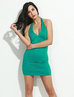 xixiangyi® sexy ohlávka bavlny a spandex mini šaty dámské