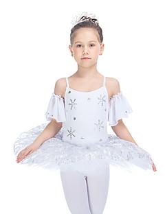 בלט שמלות בגדי ריקוד נשים בגדי ריקוד ילדים ביצועים כותנה טול לייקרה חלק 1 Tutus