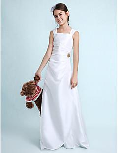 LAN TING BRIDE עד הריצפה טפטה שמלה לשושבינות הצעירות  מעטפת \ עמוד טבעי עם תד נשפך סלסולים סיכה מקריסטל - כחול סקיי ירוק ליים כחול