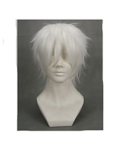 Cosplay Wigs NO.6 Cosplay White Short Anime Cosplay Wigs 30 CM Male / Female