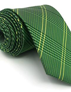 Muž Umělé hedvábí Vintage Roztomilý Party Pracovní Na běžné nošení Kravata,Geometrie Zelená
