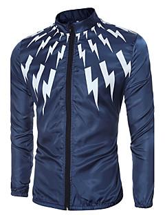 Herren Solide Einfach Lässig/Alltäglich Sport Jacke,Frühling Herbst Ständer Langarm Separat waschen Standard Polyester