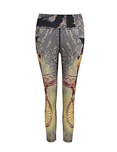 女性用 ランニングパンツ 速乾性 高通気性 クロップパンツ レギンス ボトムズ のために ヨガ エクササイズ&フィットネス ランニング モーダル ポリエステル スリム S M L XL XXL