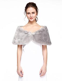Женская накидка Пончо Искусственный мех Для свадьбы Вечерние
