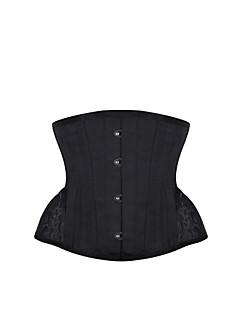 Kvinders Underbrystkorset Nattøj,Sexet Push-Up Kontor / Bedrift Ensfarvet-Medium Polyester Dame