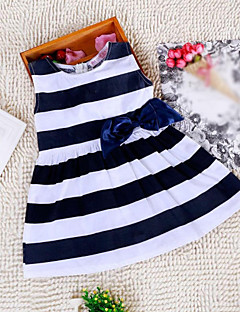 Girl's Doll Collar Stripe Dress