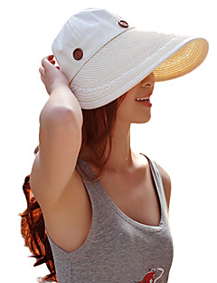 Women's Fashion Sweet Straw Hat Sun Hat Beach Cap Folding Casual Holiday Outdoors Holiday Summer Teardown Amphibious Hat