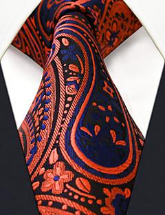 Muž Umělé hedvábí Vintage Roztomilý Party Pracovní Na běžné nošení Kravata,Paisley Oranžová