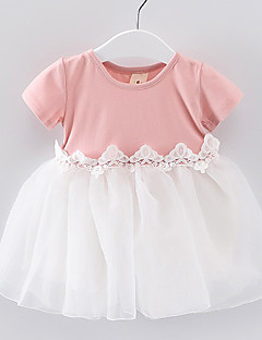 女の子の ゼブラプリント コットン ドレス 夏 春 半袖