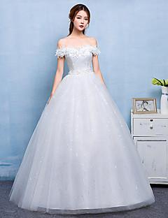 Vestido de boda vestido de bola - elegante& Moderno simplemente sublime piso de longitud tulle de encaje de satén con encaje