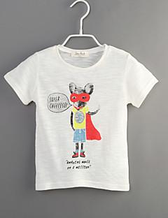 Junge T-Shirt Lässig/Alltäglich Tiermuster Druck Baumwolle Sommer Kurzarm