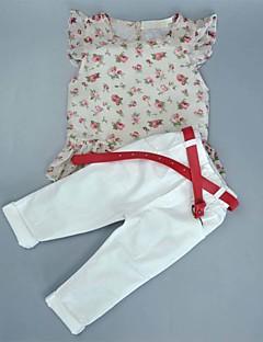 Mädchen Sets Ausgehen Lässig/Alltäglich Sport Punkte Baumwolle Sommer Kurzarm Kleidungs Set