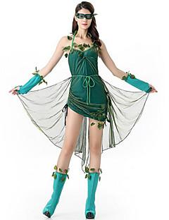 Fantasias de Cosplay Festa a Fantasia Conto de Fadas Festival/Celebração Trajes da Noite das Bruxas Verde Miscelânea VestidoDia Das