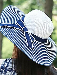 Для женщин Для женщин Винтаж На каждый день Соломенная шляпа Шляпа от солнца,Соломка,Весна Лето