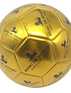 Soccers Piłka nożna-Wysoka elastyczność Trwały(Złoto,PVC)