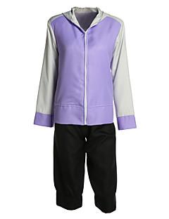 Вдохновлен Наруто Hinata Hyuga Аниме Косплэй костюмы Косплей Костюмы Однотонный Черный Фиолетовый Длинные Пальто Шорты Для Мужской Женский