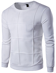 Herren Pullover Übergröße Lässig/Alltäglich Sport Aktiv Einfach Solide Rundhalsausschnitt Mikro-elastisch Baumwolle Kunstseide Langarm