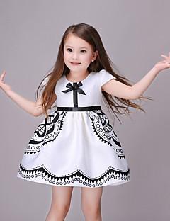 Dívka je Bavlna Další Plážové Květinový Léto Šaty,Krátký rukáv