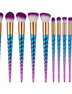10 Contour Brush Makeup Brush Set Blush Brush Eyeshadow Brush Fan Brush Powder Brush Foundation Brush Synthetic HairProfessional