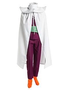 Inspirado por Dragon ball Son Gohan Anime Fantasias de Cosplay Ternos de Cosplay Patchwork Branco / Púrpura Sem MangasCapa / Colete /
