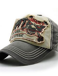 moda unissex de algodão do vintage boné de beisebol chapéu de sol das mulheres dos homens bordam crânio ocasional do verão todas as