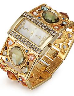 Damen Modeuhr Armband-Uhr Japanisch Quartz Imitation Diamant Legierung Band Glanz Elegante Luxuriös Gold Gold Schwarz