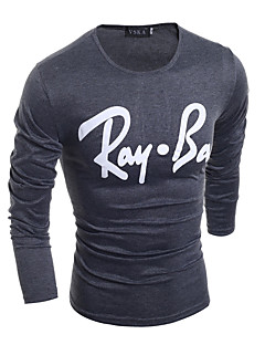 Men's Casual Simple Long-Sleeved T-Shirt White / Black / Gray
