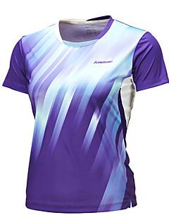 Homens Manga Curta Corrida Blusas Respirável Confortável Verão Moda Esportiva Badminton Poliéster Solto Azul Escuro Roxo Cor Única