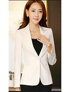 Damen Solide Street Schick Anspruchsvoll Ausgehen Lässig/Alltäglich Blazer,Hemdkragen Frühling Standard Polyester