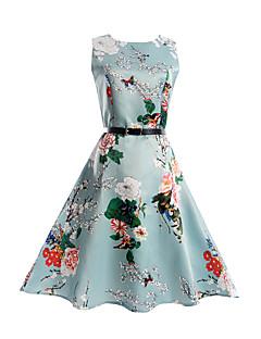 Mädchen Kleid Druck Polyester Frühling Sommer Ärmellos