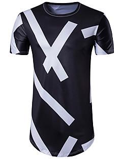 Majica s rukavima Muške,Ulični šik Ležerno/za svaki dan Geometrijski oblici-Kratkih rukava Okrugli izrez Poliester