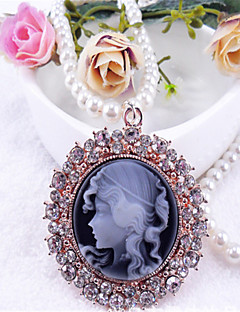 Sweet Lolita Necklace Vintage Inspired Black Lolita Accessories Necklace Solid For Polyester Metal