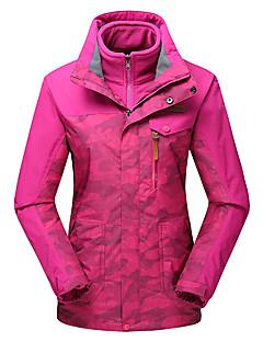Naisten 3-in-1 -takit Vedenkestävä Pidä lämpimänä Tuulenkestävä Fleece-vuori Pölynkestävä Hengittävä Double Sliders 3-in-1 -takit Naisten