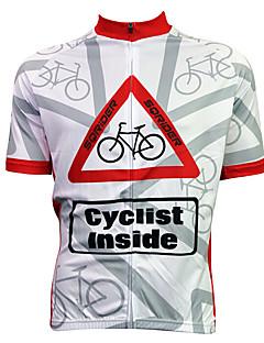 Γυναικεία Ανδρικά Γιούνισεξ Κοντομάνικο ΠοδήλατοΑδιάβροχο Αναπνέει Γρήγορο Στέγνωμα Ανατομικός Σχεδιασμός Αδιάβροχο Φερμουάρ Φοριέται