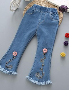 Girls' Casual/Daily Embroidered Jeans-Cotton Spring Fall