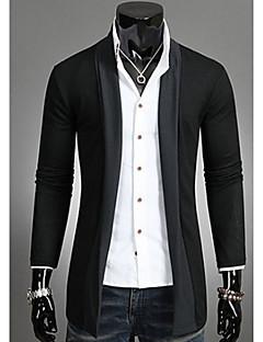 Herrer Afslappet/Hverdag I-byen-tøj Normal Cardigan Patchwork,Asymetrisk Langærmet Andet Forår Efterår Medium Mikroelastisk
