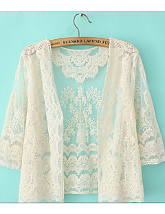 Damen Solide Einfach Lässig/Alltäglich Hemd,V-Ausschnitt Sommer Polyester Dünn