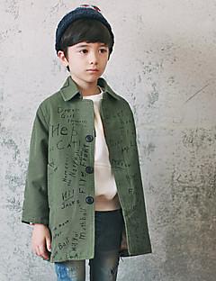 Jungen Anzug & Blazer Lässig/Alltäglich einfarbig Baumwolle Frühling Herbst Lange Ärmel