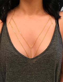 Γυναικεία Κοσμήματα Σώματος Body Αλυσίδα / κοιλιά Αλυσίδα Μοντέρνα κοστούμι κοστουμιών Κράμα Geometric Shape Κοσμήματα Για Πάρτι Ειδική