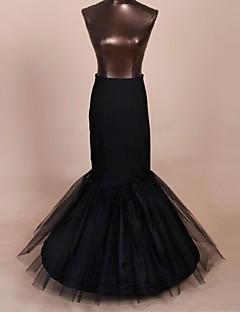 Spodničky Trumpetový / mořská panna Na zem Po lýtka 1 Nylon Tyl Polyester Černá