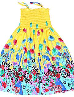 Mädchen Kleid Ausgehen Druck Baumwolle Sommer Ärmellos