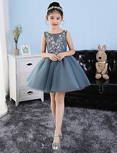 Krátký / Mini Tyl Šaty pro malou družičku Princess Klenot s Aplikace