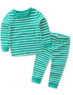 Vêtements de nuit Enfant Décontracté / Quotidien Rayé Coton Polyester-Toutes les Saisons Printemps Automne-Manches longues