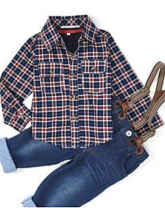 Мальчики Наборы На каждый день Хлопок С принтом Весна Осень Длинный рукав Набор одежды